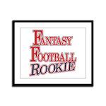 Fantasy Football Rookie Framed Panel Print
