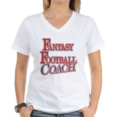 Fantasy Football Coach Women's V-Neck T-Shirt