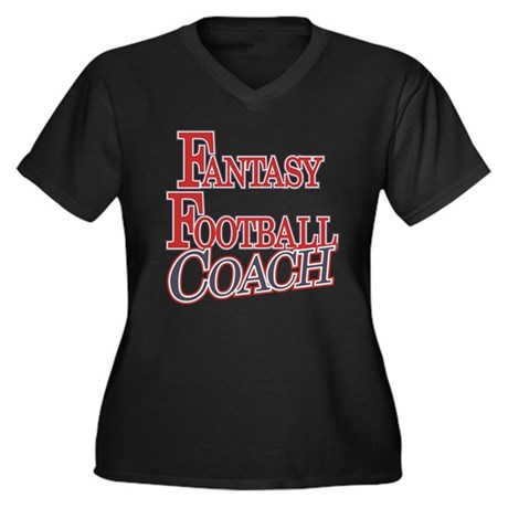 Fantasy Football Coach Women's Plus Size V-Neck Da
