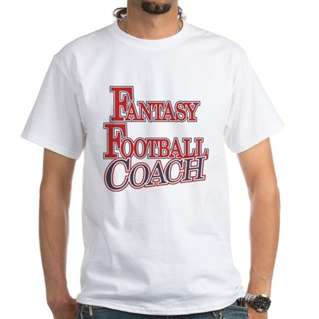 Fantasy Football Coach White T-Shirt