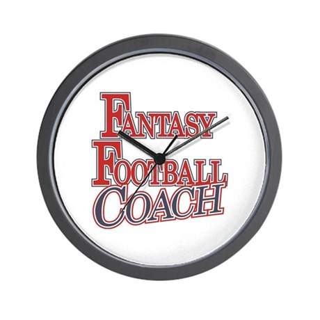 Fantasy Football Coach Wall Clock