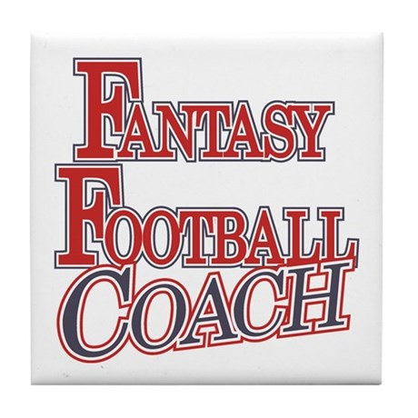 Fantasy Football Coach Tile Coaster