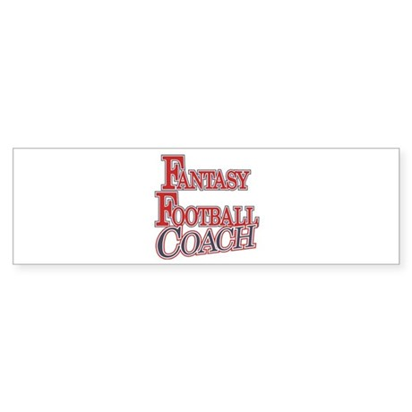 Fantasy Football Coach Bumper Sticker