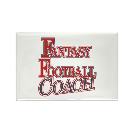 Fantasy Football Coach Rectangle Magnet (10 pack)