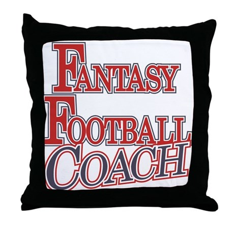 Fantasy Football Coach Throw Pillow