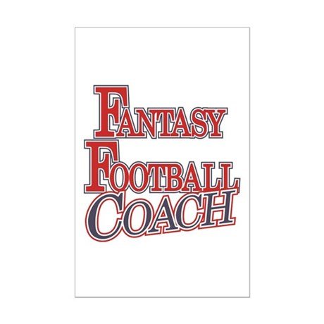 Fantasy Football Coach Mini Poster Print