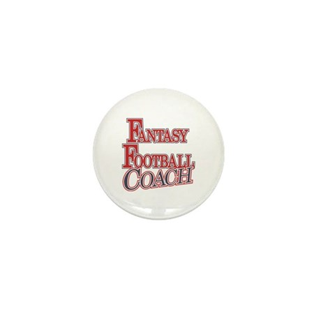 Fantasy Football Coach Mini Button (100 pack)