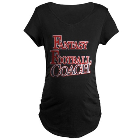 Fantasy Football Coach Maternity Dark T-Shirt