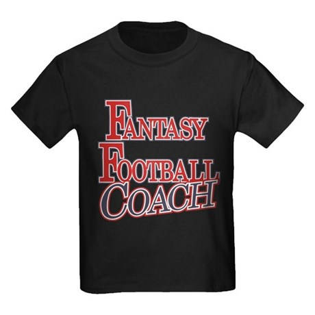 Fantasy Football Coach Kids Dark T-Shirt