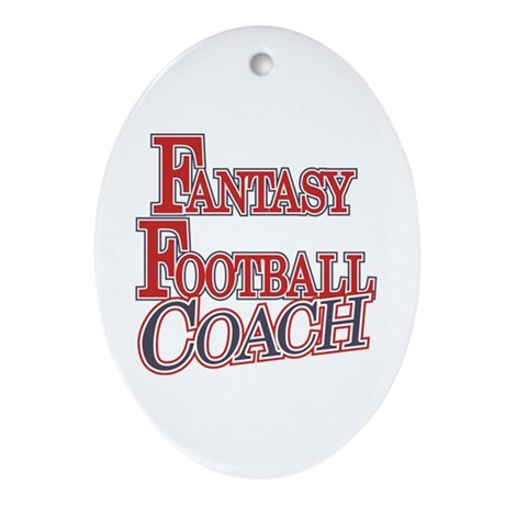 Fantasy Football Coach Oval Ornament