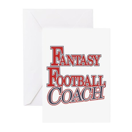Fantasy Football Coach Greeting Cards (Pk of 10)
