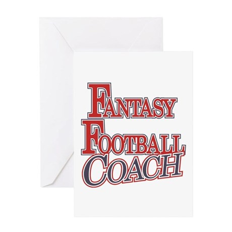 Fantasy Football Coach Greeting Card