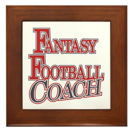 Fantasy Football Coach Framed Tile