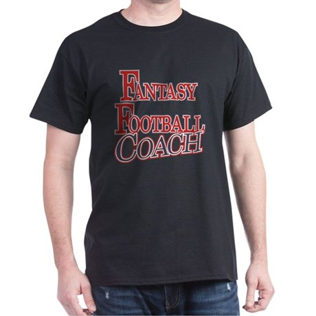 Fantasy Football Coach Dark T-Shirt