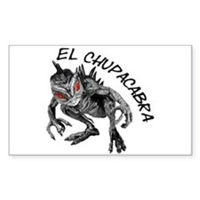 New Chupacabra Design 2 Rectangle Decal