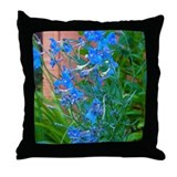 Butterfly Delphinium Throw Pillow
