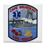 Cape Girardeau Fire Tile Coaster