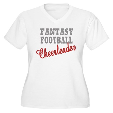 Fantasy Football Cheerleader Women's Plus Size V-N