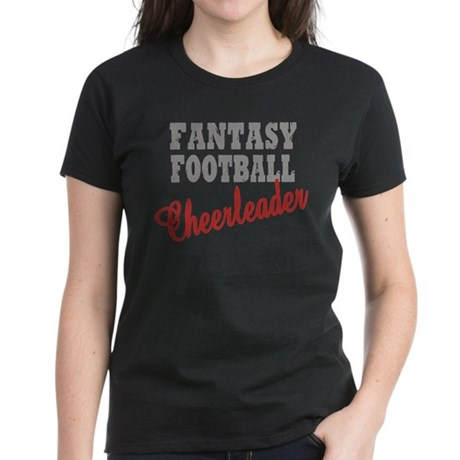 Fantasy Football Cheerleader Women's Dark T-Shirt