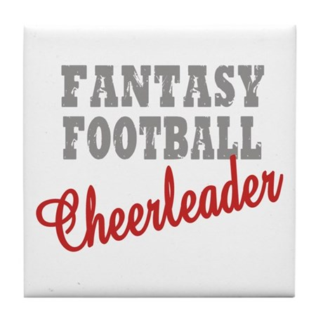 Fantasy Football Cheerleader Tile Coaster