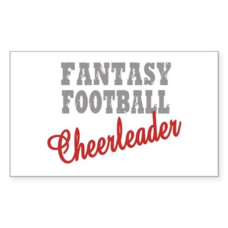 Fantasy Football Cheerleader Rectangle Sticker
