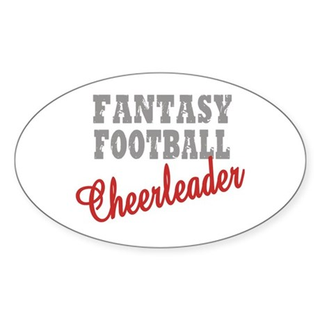 Fantasy Football Cheerleader Oval Sticker
