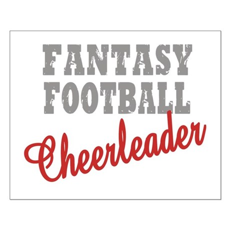 Fantasy Football Cheerleader Small Poster