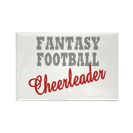Fantasy Football Cheerleader Rectangle Magnet (100