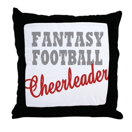 Fantasy Football Cheerleader Throw Pillow
