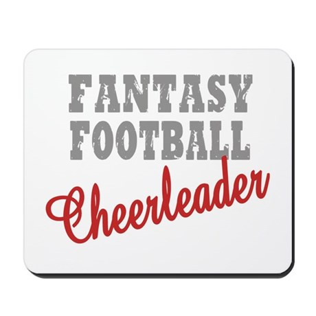Fantasy Football Cheerleader Mousepad