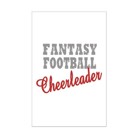 Fantasy Football Cheerleader Mini Poster Print