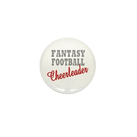 Fantasy Football Cheerleader Mini Button