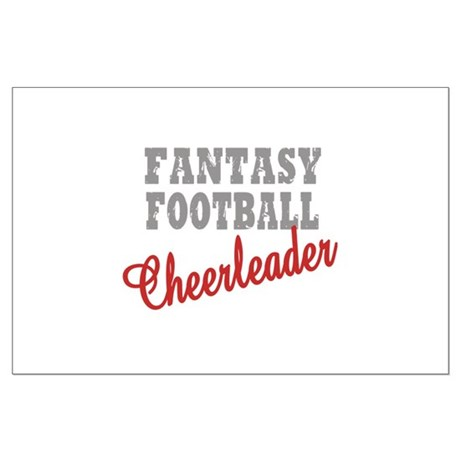 Fantasy Football Cheerleader Large Poster