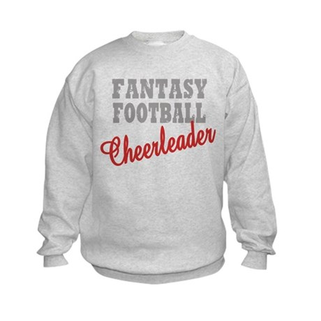 Fantasy Football Cheerleader Kids Sweatshirt