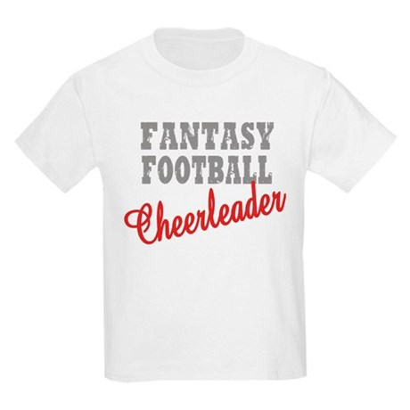 Fantasy Football Cheerleader Kids Light T-Shirt