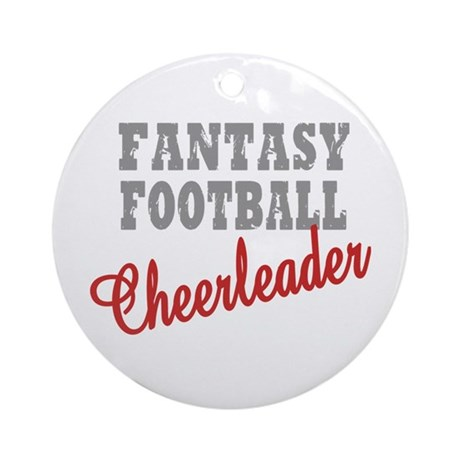 Fantasy Football Cheerleader Ornament (Round)