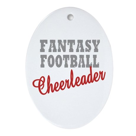 Fantasy Football Cheerleader Oval Ornament