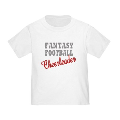Fantasy Football Cheerleader Toddler T-Shir