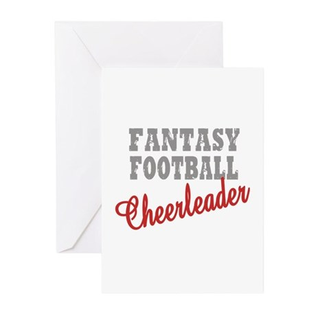 Fantasy Football Cheerleader Greeting Cards (Pk of