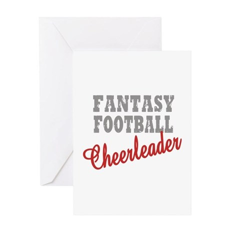 Fantasy Football Cheerleader Greeting Card