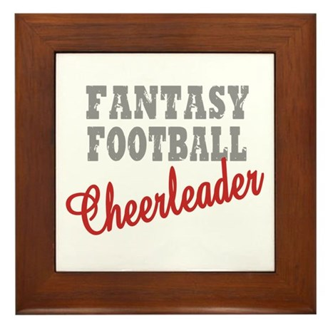 Fantasy Football Cheerleader Framed Tile