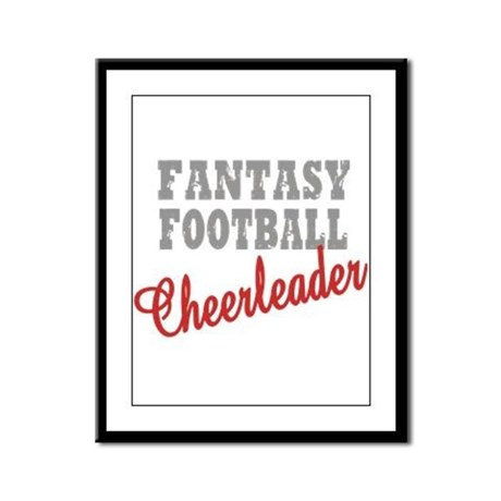 Fantasy Football Cheerleader Framed Panel Print