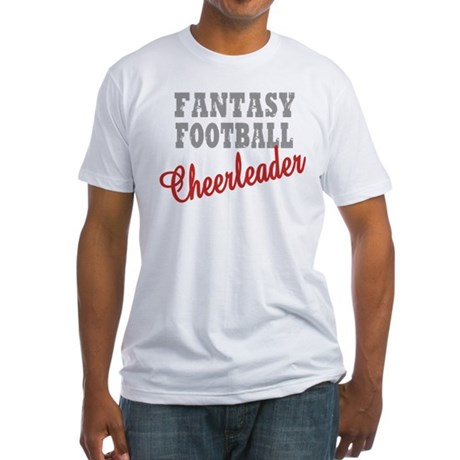 Fantasy Football Cheerleader Fitted T-Shirt