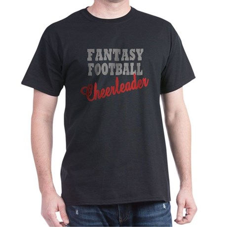 Fantasy Football Cheerleader Dark T-Shirt
