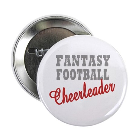 Fantasy Football Cheerleader Button