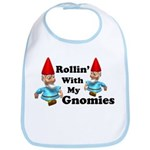 Rolling with my gnomies Baby Pop Culture Bib