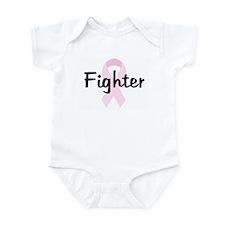 Fighter pink ribbon Infant Bodysuit