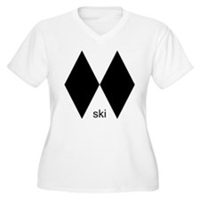 Double Black Diamond Ski Shir T-Shirt