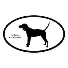 Redbone Coonhound Silhouette Decal