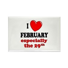February 29th Rectangle Magnet